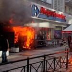 Újabb zavargások kezdődtek Görögországban - Fotógaléria