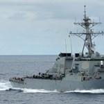 Majdnem nekiment egy kínai romboló az amerikai hadihajónak