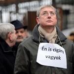 """""""Én is cigány vagyok"""" - Bayer ellen tüntetett Gyurcsány"""