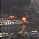 Nagy tűz van a dubaji kikötőben - fotók, videó