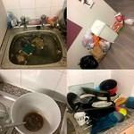 Döbbenetes képek: ilyen mocskos lakásban, szeméthalmok között él ez az egyetemista: