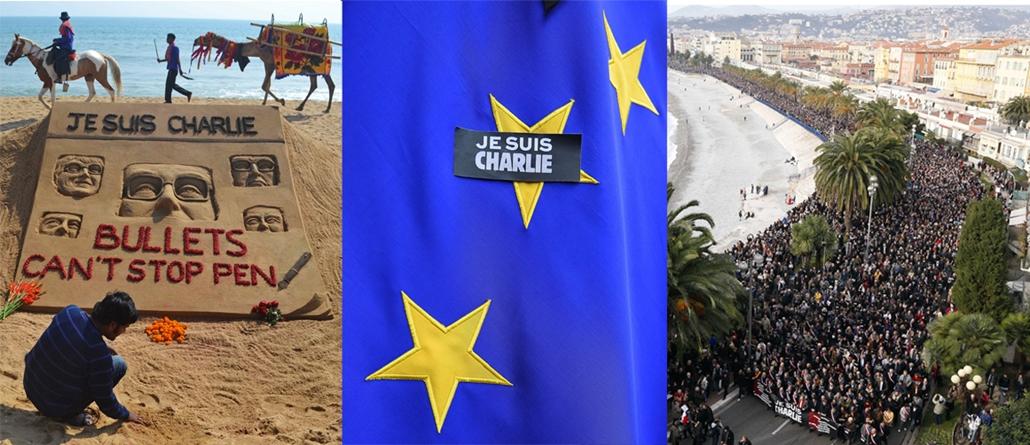 afp.15.01.07. - Párizs, Franciaország: lövöldözés a Charlie Hebdo szerkesztőségében - lövöldözés Párizsban - elkövetők, Párizsi vérengzés