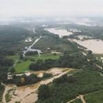 Drónokkal készít látványos özönvízfotókat a katasztrófavédelem