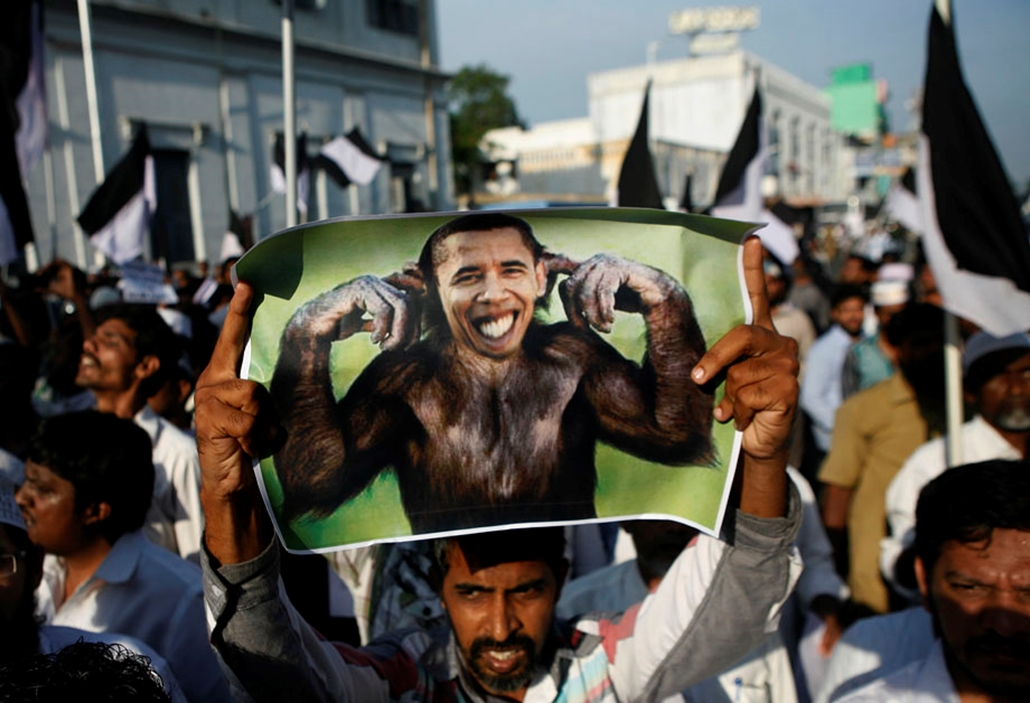 Tüntetés Indiában , arab világ, tüntetések, mohammed próféta