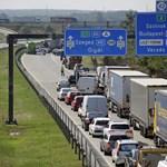 Bedugult az M5-ös autópálya Budapest felé