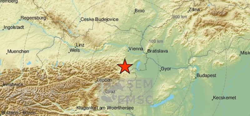 4,3-as erősségű földrengés volt Bécsújhelynél
