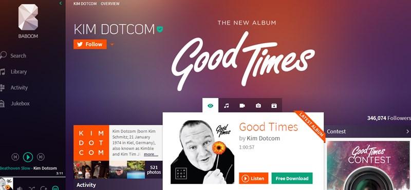 Itt látható Kim Dotcom válasza a Spotifyra és az iTunesra
