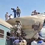 Több tucat halottja van egy vonatbalesetnek Egyiptomban