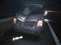 Halálra gázoltak egy gyalogost az M1-es autópályán