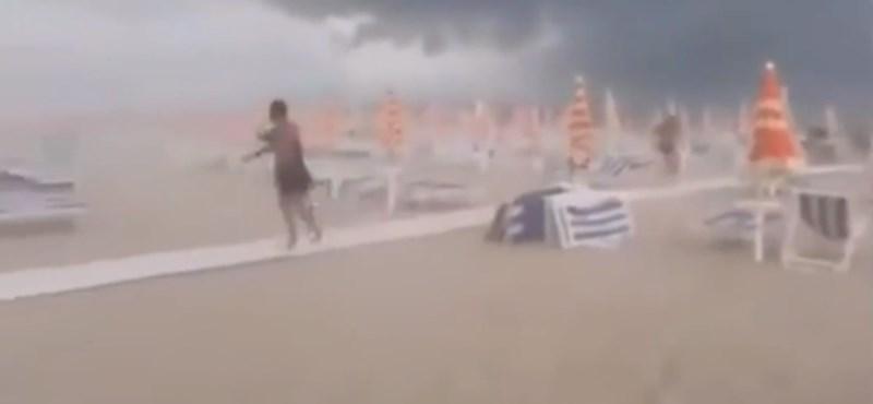 Az olasz adriai tengerparton végigsöpört a világvége