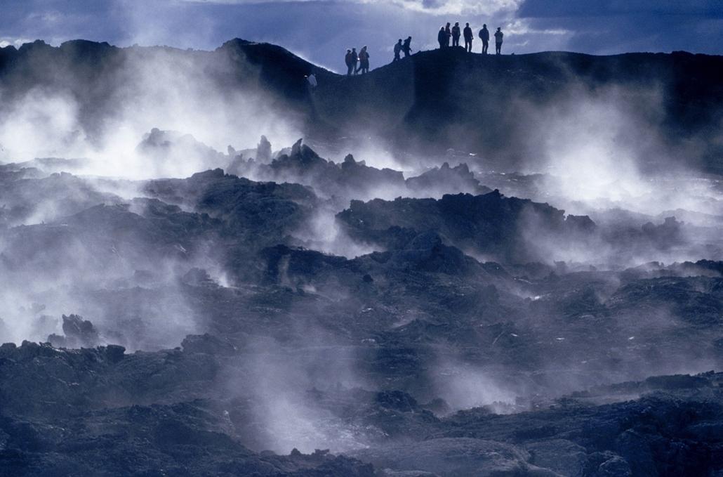 vulkán, tűzhányó - Europe, Iceland, Krafla lava, north Island 2011-12-16