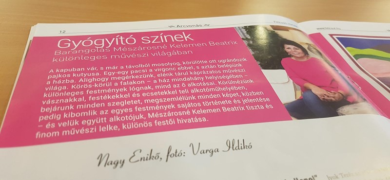 A felcsúti újságban mutogatják Mészáros Lőrinc feleségének festményeit