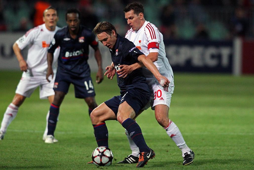 0-4-re kapott ki a DVSC a Lyon-tól a Puskás Ferenc Stadionban.