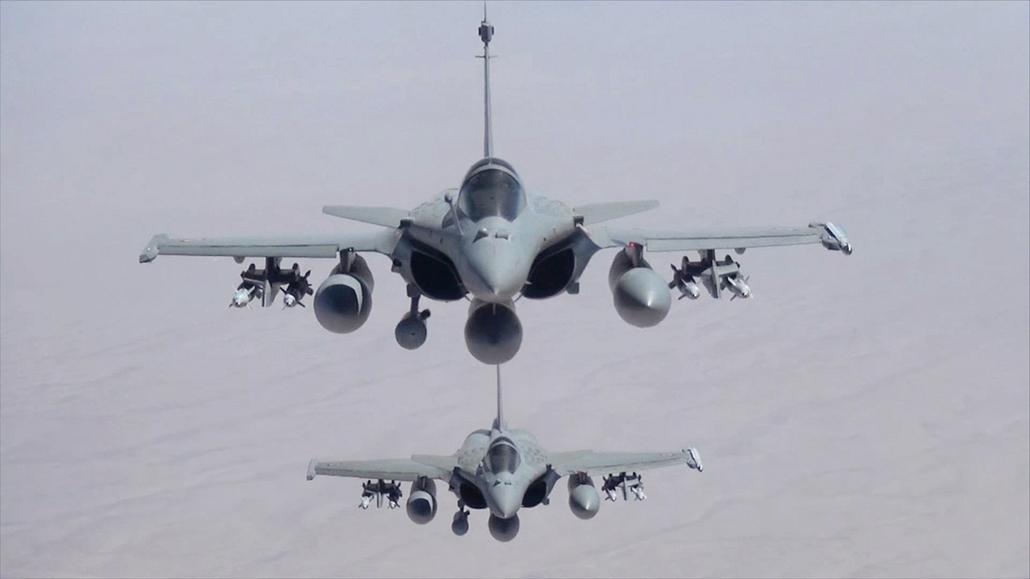 afp.14.09.19. - Irak felett: Rafale vadászbombázók GBU 12 bombák, Damoklész és Mica rakétákkal felszerelve - 7képei