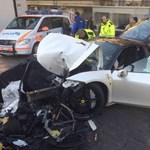 Ismét egy fiatal suhanc zúzott le egy méregdrága autót – fotók