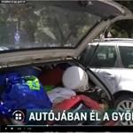 Gyermekével együtt kilakoltatták, így autójában él egy nő