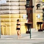 Újabb pucér nő mászkált Budapest utcáin – fotó