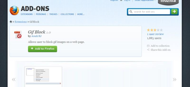 Így tilthatjuk le az animált GIF-eket a Firefoxban, egy kattintással!