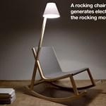 Hintaszék beépített lámpával - ötletes és esztétikus