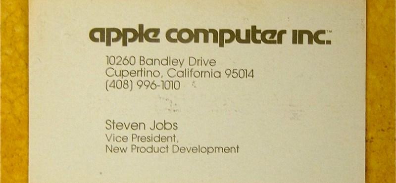 Steve Jobs névjegykártyája