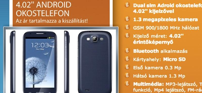 Átverés a magyar neten nagyon olcsón kínált csúcsmobil