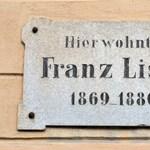 Itt lakott Liszt Ferenc, magyar zeneszerző