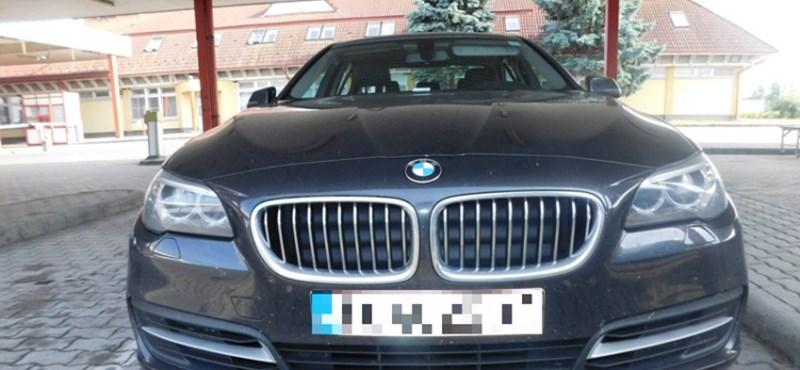 Lábon akarták kivinni a 10 milliós BMW-t