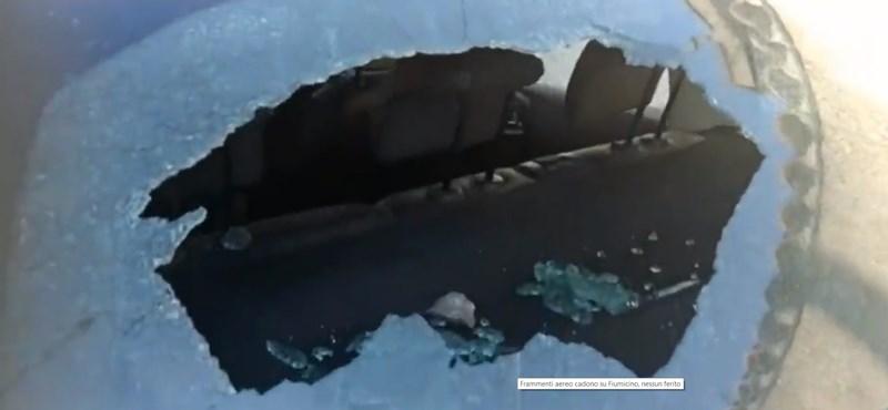 Autókat zúztak össze egy norvég utasszállító darabjai a római reptérnél - videó
