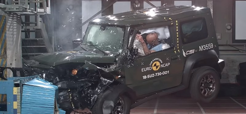 Az új Suzuki nem szerepelt túl jól a törésteszten