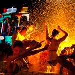 Éjszakai fényfürdő a szabadtéri Cinetripen - Nagyítás fotógaléria