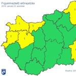 Térkép: Extrém hideg és havazás miatt adtak ki figyelmeztetést