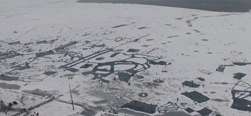 Még egy ilyen fenséges drónvideó hiányzott a befagyott Velencei-tóról