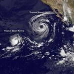 Három óriási vihar tombol Amerikánál - NASA-űrfotó