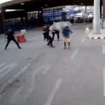 Késes határsértőt így még nem terítettek le – videó