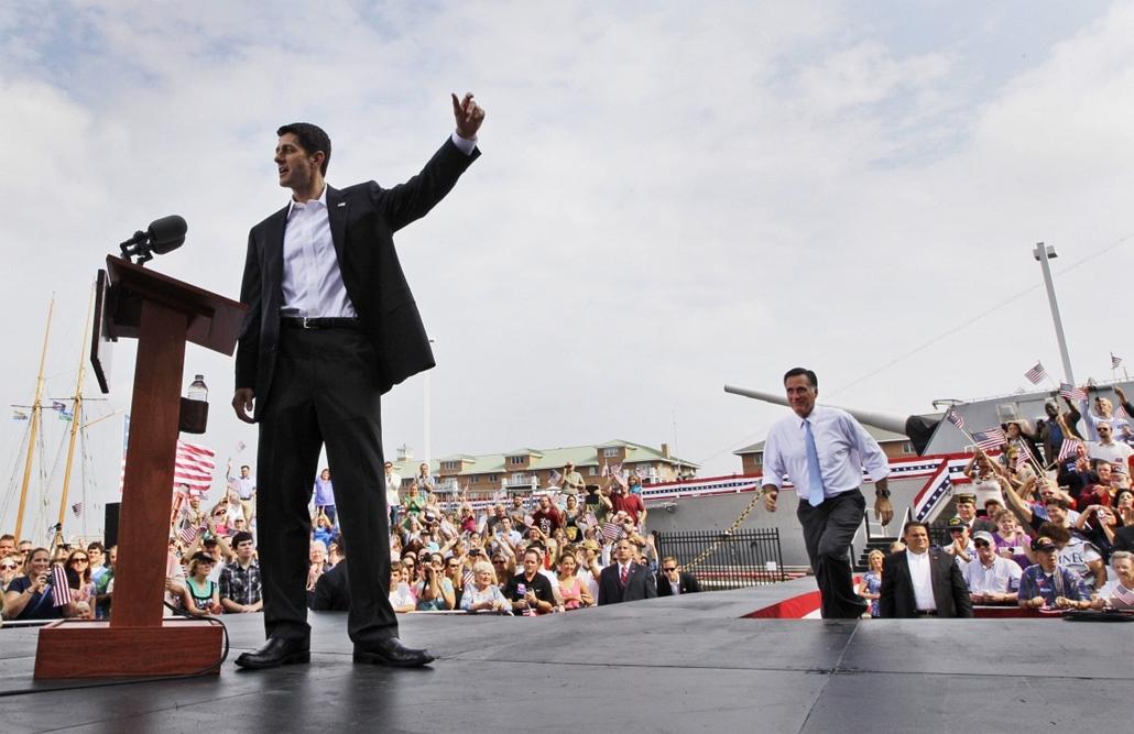A republikánus elnökjelölt, Mit Romney beszéde következik Paul Ryan után - a hét képei