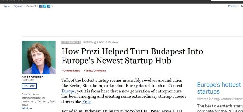 Forbes: így tette fel egy cég Budapestet a startup-térképre