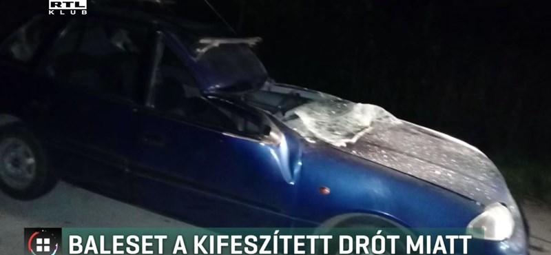Drótkötél fejezett le majdnem egy autóst, de felelős továbbra sincs