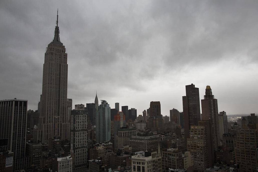 Sandy hurrikán - Empire State Building, Manhattan