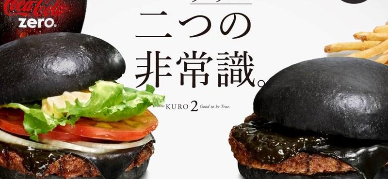 Éjfekete szendviccsel sokkol a japán Burger King – fotó