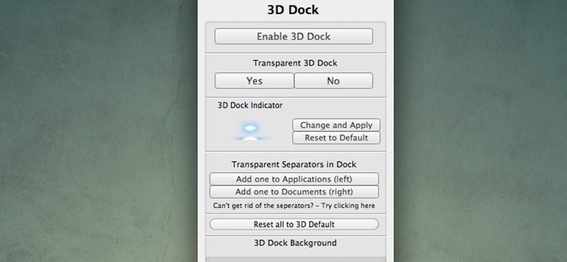 Tervezzük meg saját Dock felületünket OS X-en
