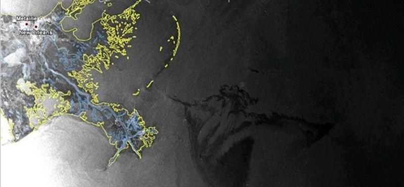 NASA: műholdfelvételek az olajfoltról