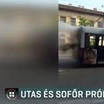 Nagy volt a pánik a Kálvária téren kigyulladt buszon
