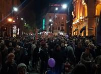 Újra a CEU-ért tüntettek Budapesten - fotók