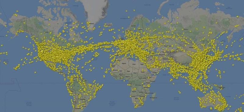 A chemtrailhívők sokkot kapnak ettől az animációtól: 200 ezernél is több gép volt a levegőben