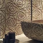 Stilizált rózsa márványból