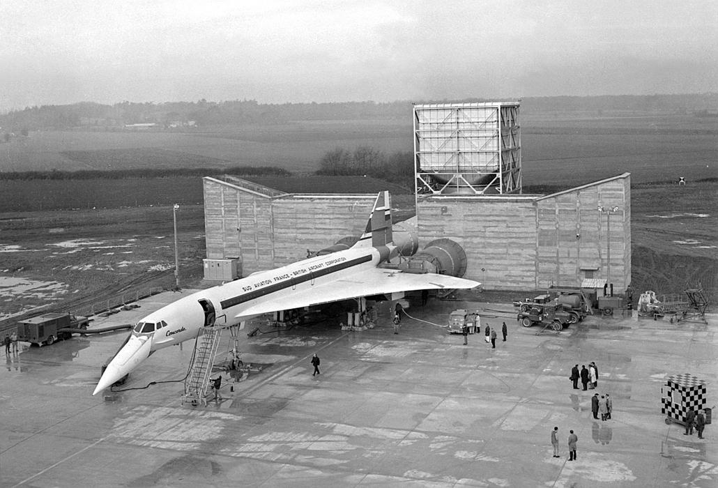 afp.1968.02.25. - Concorde - Concorde, repülőgép, nagyítás