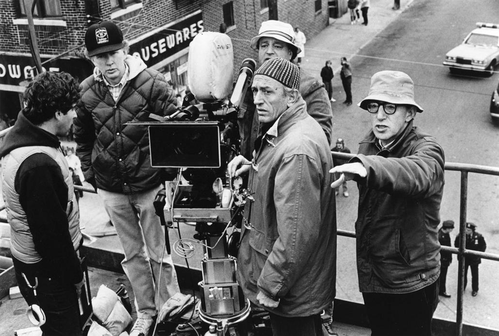 afp.1987. - Carlo Di Palma olasz filmoperatőr és Woody Allen forgatás közben - nagyítás, kamera