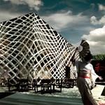 Hálóba szőtt futurisztikus étterem - letisztult és extravagáns