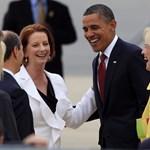 Most először jutott el elnökként Ausztráliába Obama