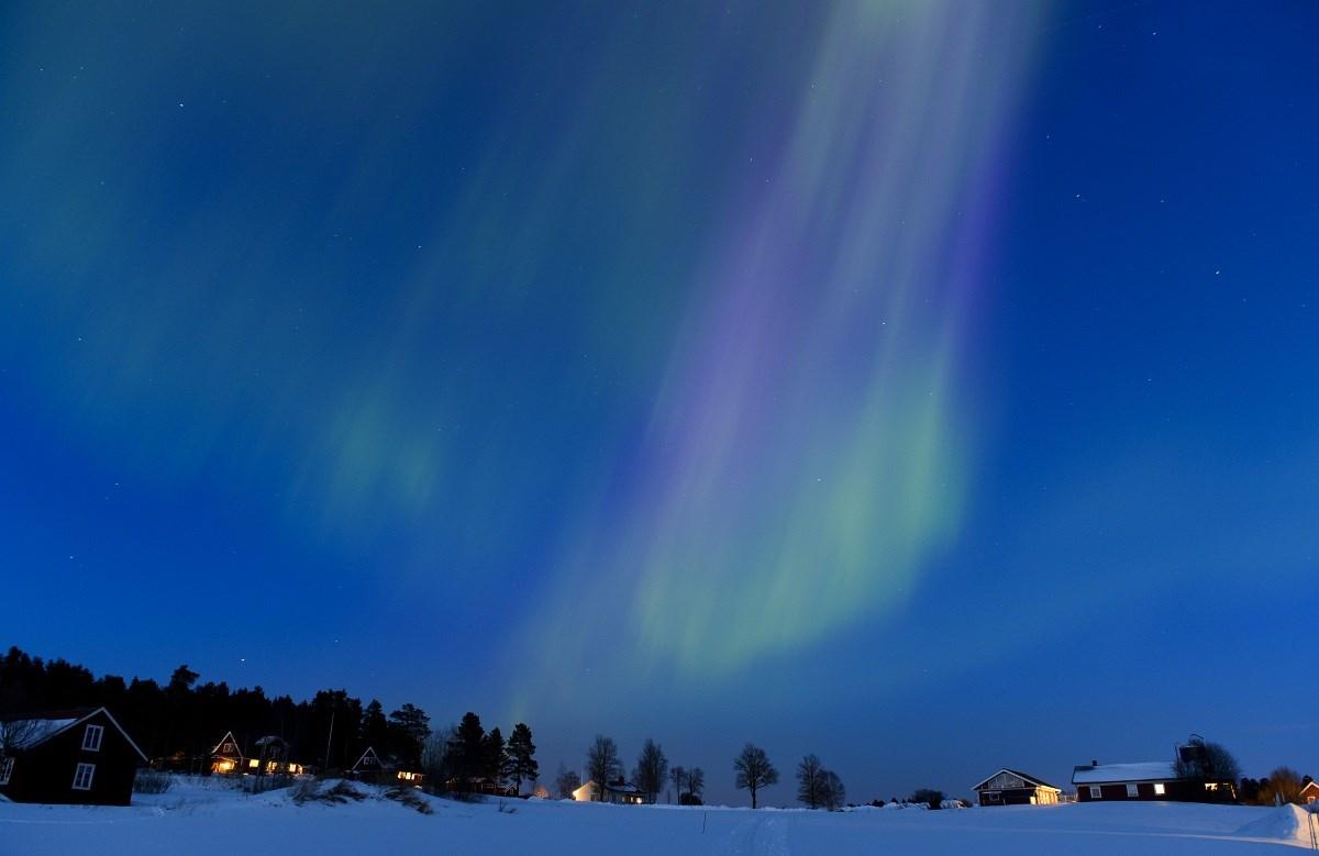 Nap képe: bámulatos fény színezte ki az eget Svédországan